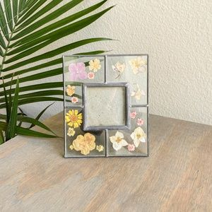 botanical pressed flowers square picture frame